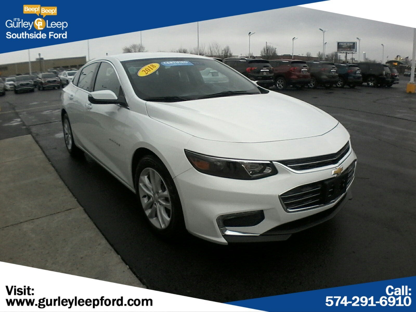 Featured Used 2018 Chevrolet Malibu LT 4dr Car for sale near you in South Bend, IN