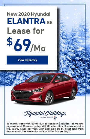 Brand New 2020 Hyundai Elantra SE