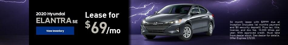 2020 Hyundai Elantra SE - Lease