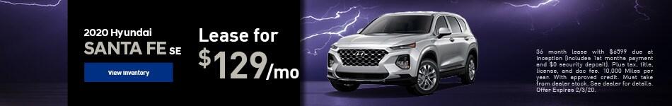 2020 Hyundai Santa Fe SE - Lease