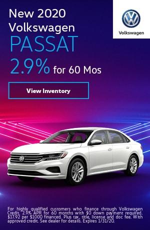 2020 Volkswagen Passat - 2.9% for 60 Months