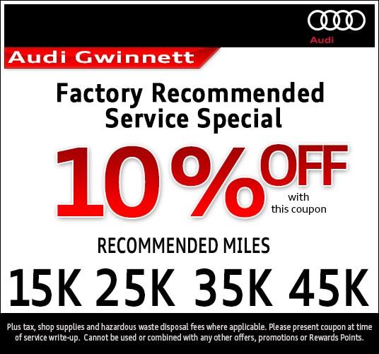 Audi Dealership Atlanta >> Audi Service Specials | Audi Atlanta Auto Service Savings