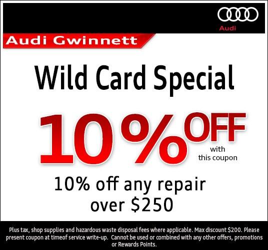 Audi Atlanta Auto Service Savings