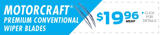 Motorcraft® Tested Tough® Premium Wiper Blades Coupon, Duluth