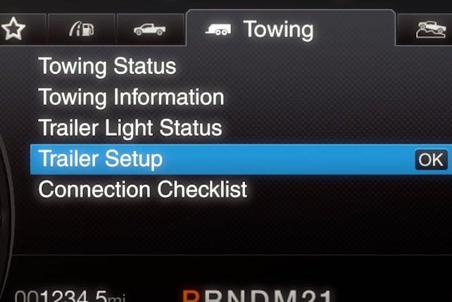 Ford Trailer Reverse Sensing
