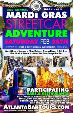 Mardi Gras Streetcar Adventure Atlanta