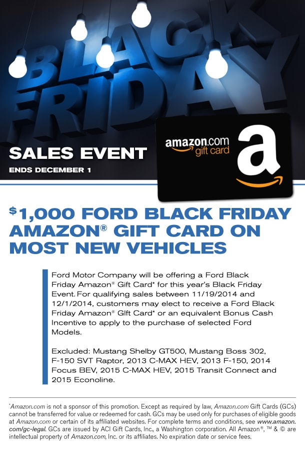 Ford Black Friday Sales Event | Ford Amazon Gift Card | New Ford ...