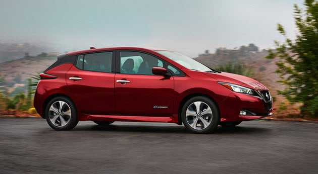 Red 2018 Nissan LEAF