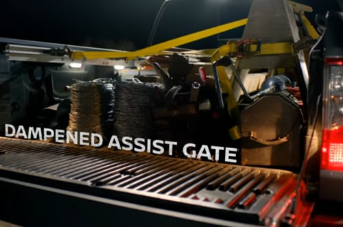 Nissan dampened tailgate assist