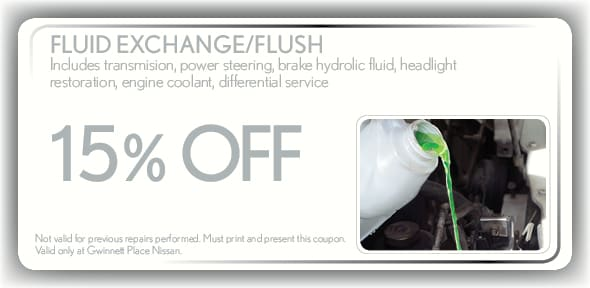 Fluid Exchange Service Coupon, Duluth, GA. If no image displays, this offer has ended.