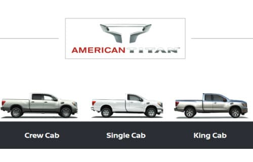 Nissan Titan body styles