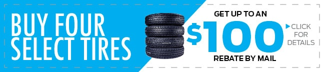 4 Tire $70 Mail-In Rebate Coupon, Duluth