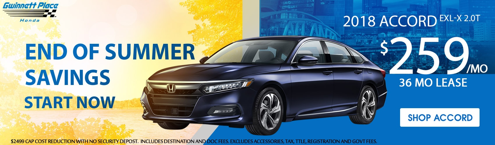 Accord EX L 2.0T Lease Special