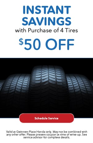 Instant Savings With Purchase of 4 Tires