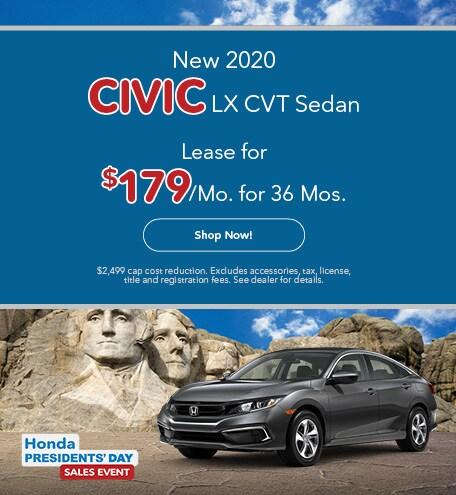 New 2020 Honda Civic LX CVT Sedan