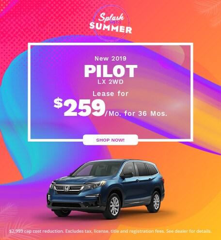 New 2019 Pilot LX 2WD