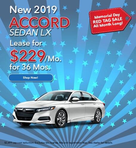 New 2019 Accord Sedan LX