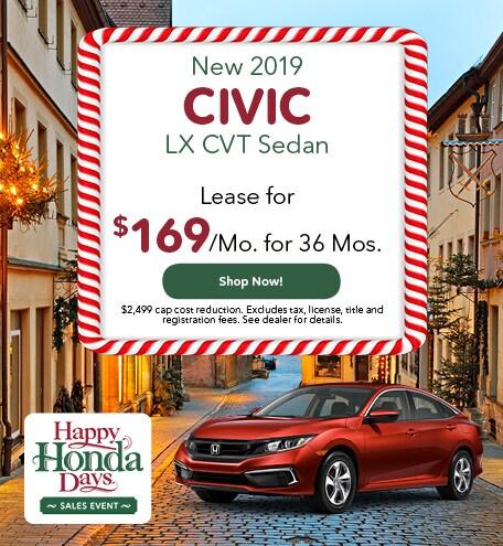 New 2019 Civic LX CVT Sedan
