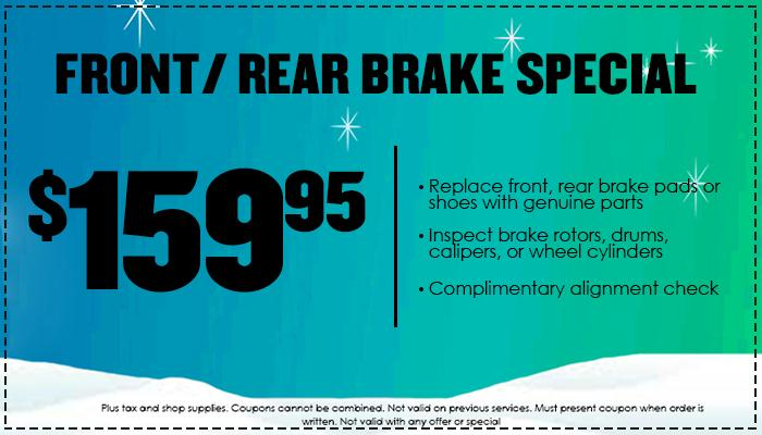 $159.95 Front | Rear Brake Special