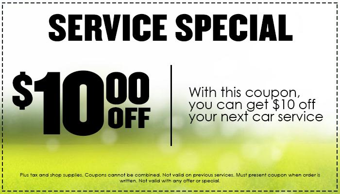 $10 off service