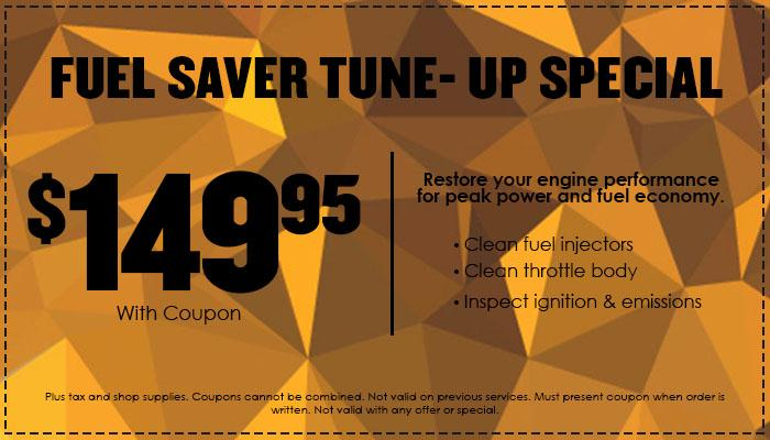 $149.95 Fuel-Saver Tune-up