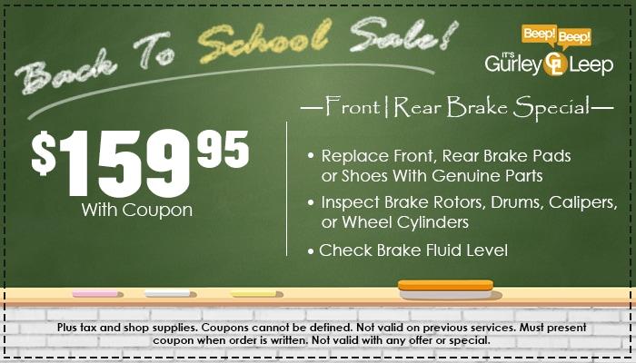 $159.95 Brake Special