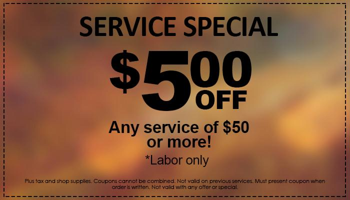$5 Off Special