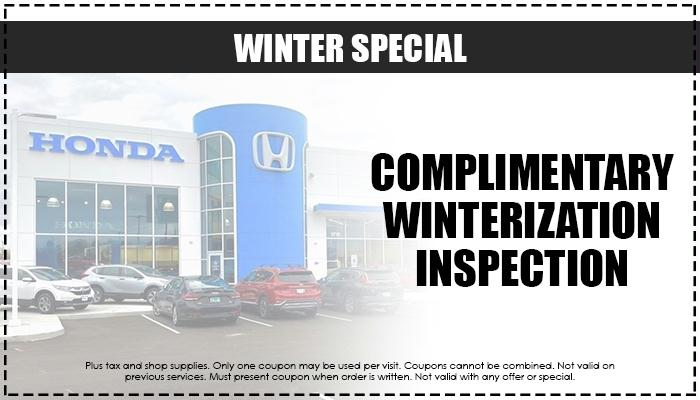 Complimentary Winterization Inspection