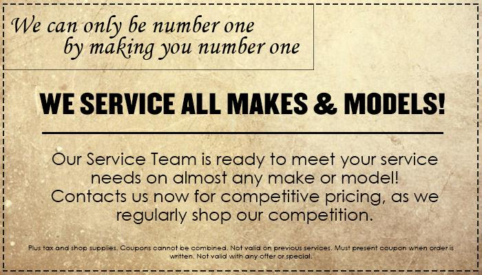 Service On All Makes & Models