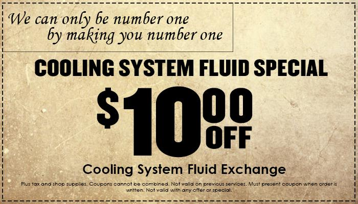 Cooling System Fluid Special
