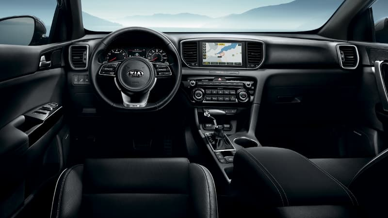 The dashboard of the 2020 Kia Sportage
