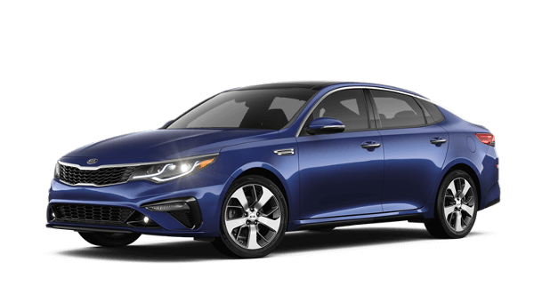 A blue 2019 Kia Optima S