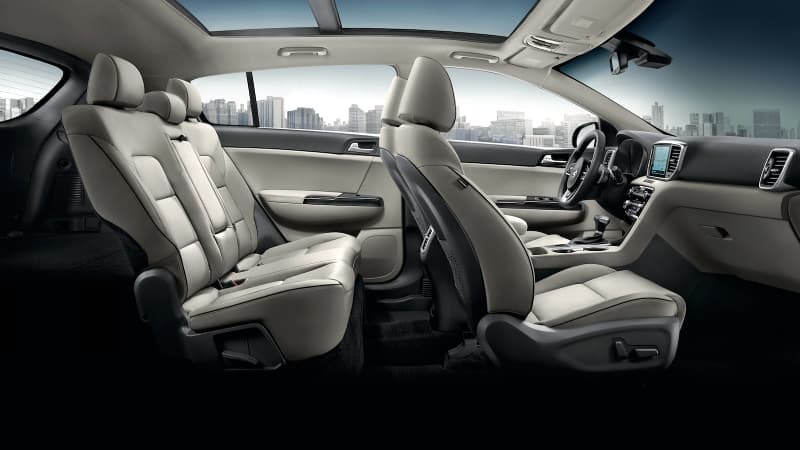 The seating arrangement on the 2020 Kia Sportage