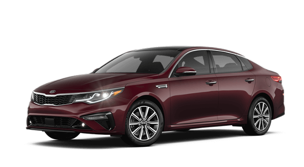 A red 2019 Kia Optima EX