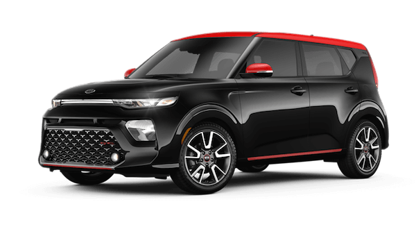 A black and red 2020 Kia Soul GT-Line