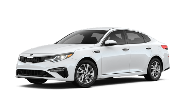 A white 2019 Kia Optima LX