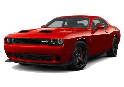 A red 2019 Dodge Challenger