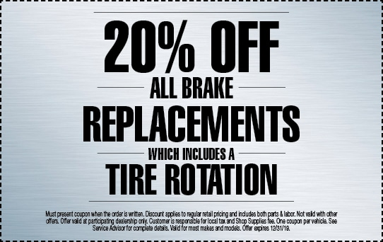 20% off Brake Replacement