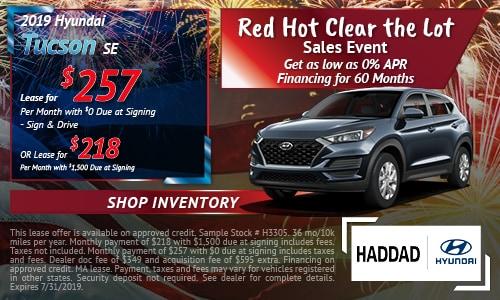 2019 Hyundai Tucson SE - July