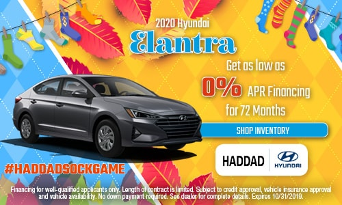 2020 Hyundai Elantra Finance - October