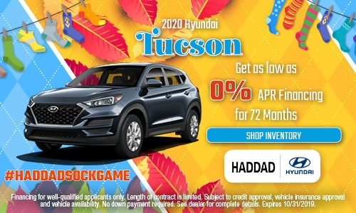 2020 Hyundai Tucson Finance - October