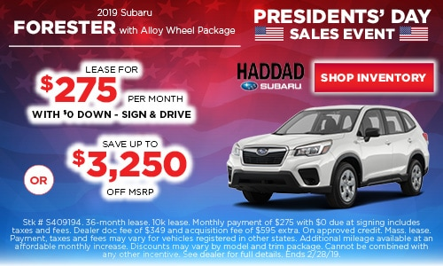 2019 Subaru Forester Lease Offer