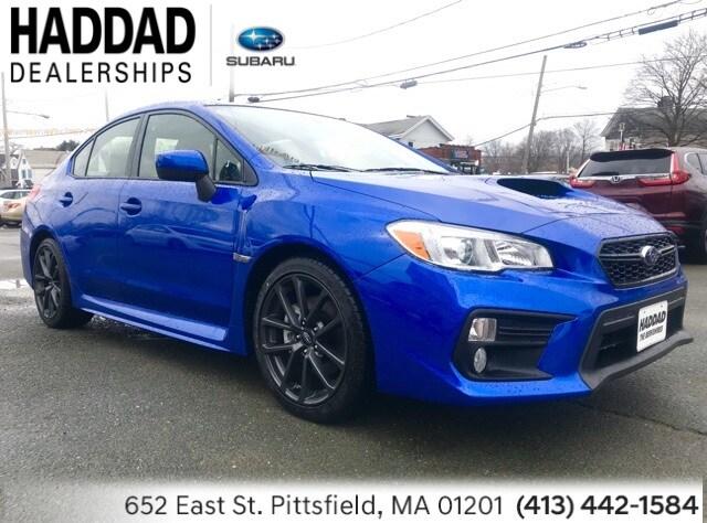 New 2019 Subaru WRX Premium (M6) Sedan Blue in Pittsfield, MA
