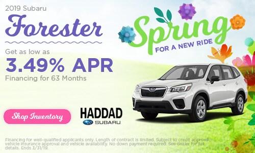 2019 Subaru Forester Finance - March