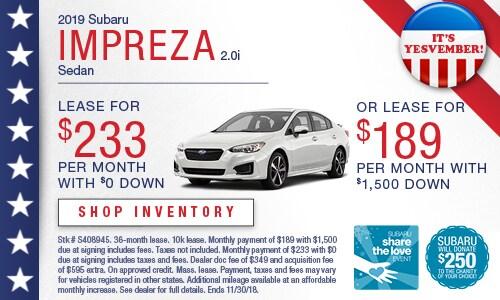 2019 Subaru Impreza Lease Offer