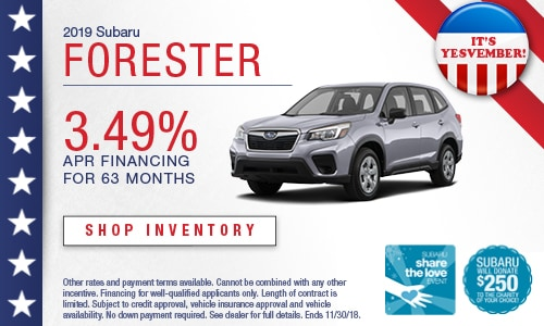 2019 Subaru Forester Financing Offer