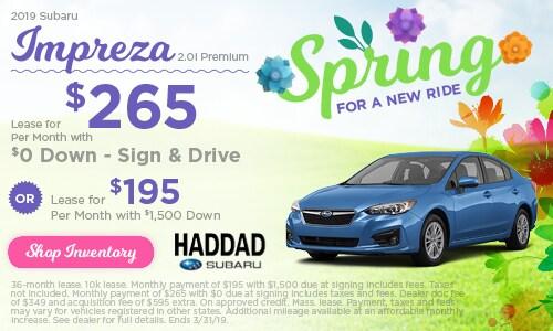 2019 Subaru Impreza Lease - March