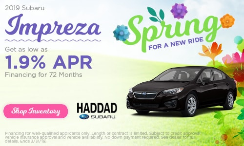 2019 Subaru Impreza Finance - March