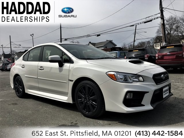 New 2019 Subaru WRX Sedan Crystal White Pearl in Pittsfield, MA