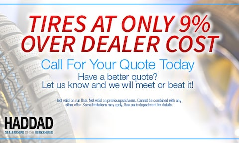 Tires at Only 9% Over Dealer Cost